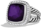 David Yurman Albion Ring with Black Orchid & Diamonds