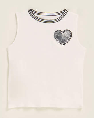 Mia Girls 7-16) Embroidered Heart Tank Top