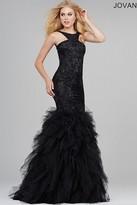 Jovani Modified Halter Neck Tulle Mermaid Dress 35104