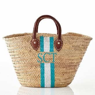 Mark & Graham Hand-Painted Straw Beach Bag