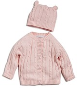 Elegant Baby Girls' Cable-Knit Sweater & Beanie Gift Set - Baby