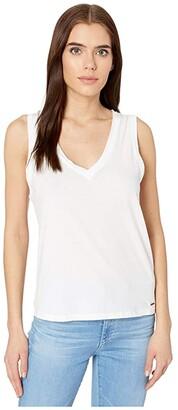 n:philanthropy Lola V-Neck Tank Top (White) Women's Clothing
