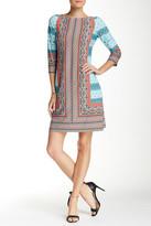 London Times 3/4 Length Sleeve Sheath Dress (Petite)