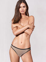 Allover Lace from Cotton Lingerie Dotted Mesh Thong Panty
