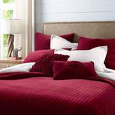 Pier 1 Imports Atwood Velvet Red Quilt & Sham