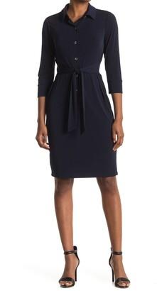 Maggy London Tie Waist Shirt Dress