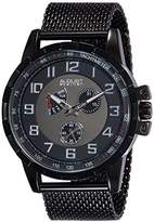 August Steiner Men's AS8202BK Multifunction Quartz Watch with and Gray Dial and Mesh Bracelet