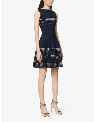 Azzedine Alaia Sleeveless stretch-knit mini dress