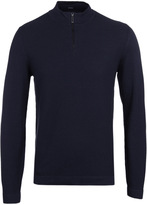 Boss Henderson Navy Zip Neck Sweater