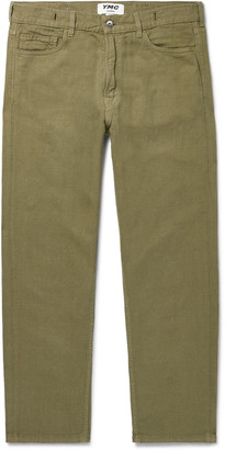 YMC Tearaway Slim-Fit Cropped Cotton And Linen-Blend Canvas Jeans