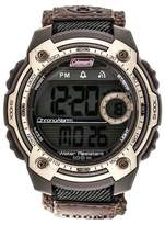 Coleman Men's 10 Digit LCD Alarm Chronograph Multi - Function Watch - Brown