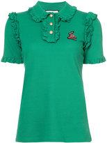 Gucci ruffled shortsleeved blouse
