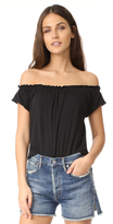 Chaser Off Shoulder Boho Short Sleeve Tee