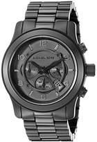 Michael Kors Watches Men's Black bracelet Chronograph Sport (Black)