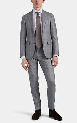 Canali Men's Plaid Wool Two-Button Suit - Gray