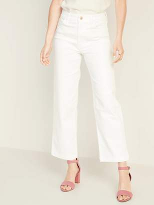 Old Navy High-Waisted Wide-Leg White Jeans For Women