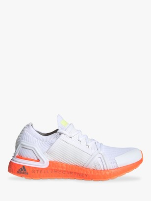 adidas by Stella McCartney UltraBoost 20 Women's Running Shoes, White/Signal Orange
