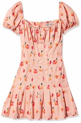 Finders Keepers findersKEEPERS Women's Tutti Frutti Short Puff Sleeve Drop Waist Midi Dress