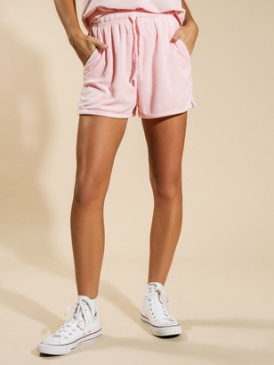 rhythm Terry Towelling Shorts in Rose