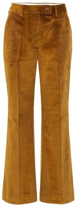 Acne Studios Flared cotton-corduroy pants