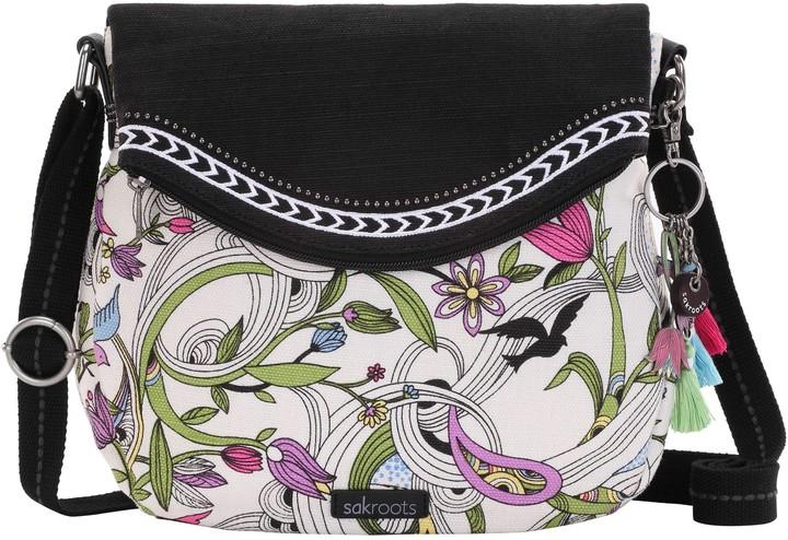 The Sak Sakroots Print Canvas Fold over Crossbody Bag