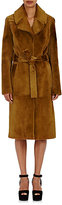 A.L.C. Women's Fur Open-Front Trench Coat-TAN
