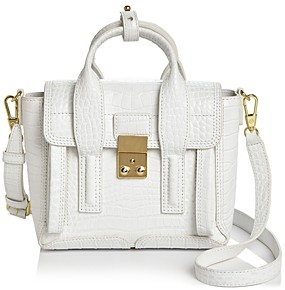 3.1 Phillip Lim Pashli Mini Embossed Leather Satchel