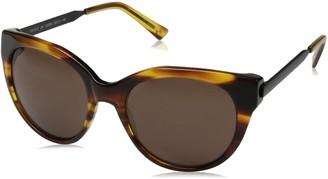 H Halston Women's HH 612 Classic Cat Eye Fashion Designer UV Protection Sunglasses