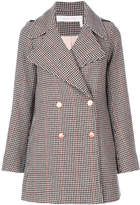 See by Chloe houndstooth pea coat