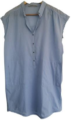 Humanoid Blue Cotton Dress for Women