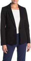 T Tahari Long Sleeve Single Button Ponte Blazer (Petite)