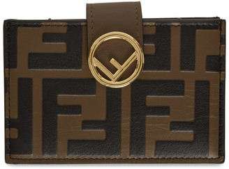 Fendi Brown Forever F is Card Holder