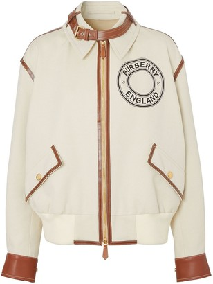 Burberry Logo Graphic Bomber Jacket