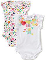 Baby Starters Baby Girls 3-12 Months Hello Sunshine Bodysuit Two-Pack