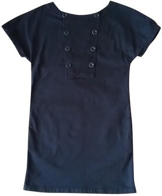 Madame à Paris Navy Cotton Dress for Women