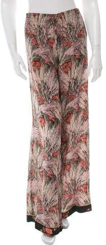 Valentino Silk Wide-Leg Pants w/ Tags