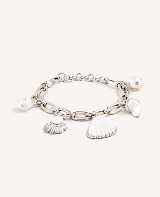 Ann Taylor Shell Charm Bracelet