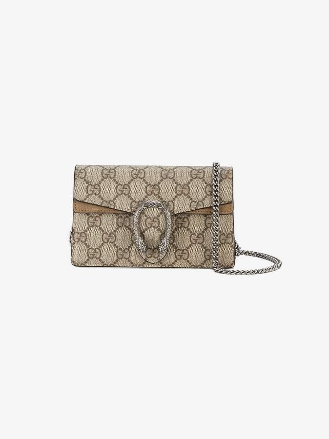 Gucci Beige Dionysus GG Supreme super mini bag