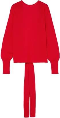 Esteban Cortazar Open-back Merino Wool, Silk And Cashmere-blend Sweater