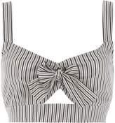 River Island Womens Grey stripe bow front bralet