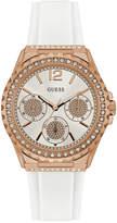 GUESS Women's White Silicone Strap Watch 40mm U0846L5