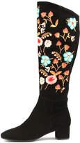 Django & Juliette Jontonar Black-multi embroidery Boots Womens Shoes Casual Long Boots