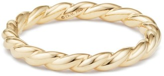 David Yurman Paveflex 18K Yellow Gold Petite Ring