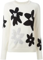 Chinti and Parker floral intarsia jumper