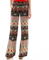 JCPenney BY AND BY by&by Paisley Print Wide-Leg Pants