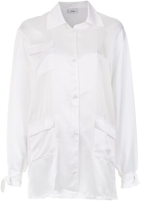 AMIR SLAMA Silk Oversized Shirt