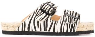 Manebi Nordic zebra-print sandals