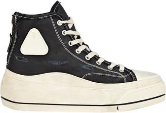 R 13 Platform High-Top Canvas Sneakers