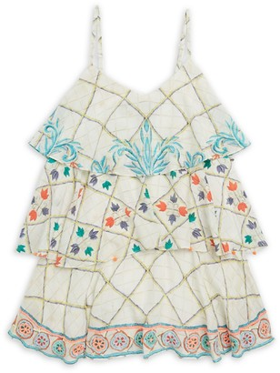 HEMANT AND NANDITA Little Girl's & Girl's Ruffle Tier Dress