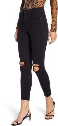 Topshop Jamie High Waist Ripped Skinny Jeans